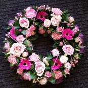 Pretty Tribute Wreath